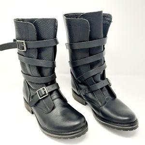 """Steve Madden """"Banddit"""" Brown Leather Boots"""